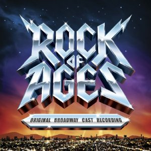 The cast album cover of ROCK OF AGES