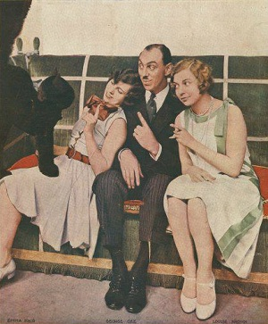 Emma Haig, George Gee and Louise Browne in THE GIRL FRIEND