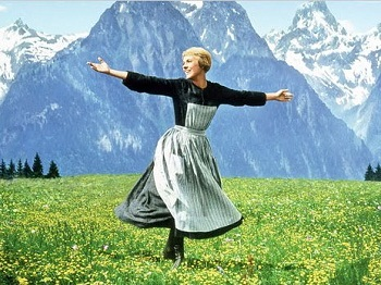 Julie Andrews sings the title song in THE SOUND OF MUSIC