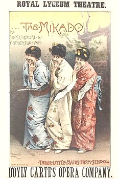 1885 poster art for THE MIKADO