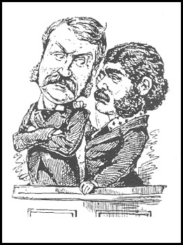 An etching of Gilbert and Sullivan