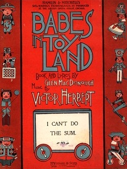 Sheet music from Victor Herbert's BABES IN TOYLAND