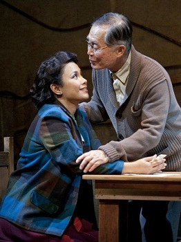 Lea Salonga and George Takei in ALLEGIANCE. Photo credit: Henry DiRocco
