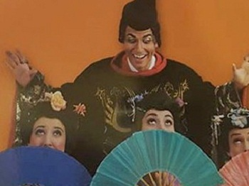 The image that caused all the trouble: promotional photography used to promote the New York Gilbert and Sullivan Players' production of THE MIKADO