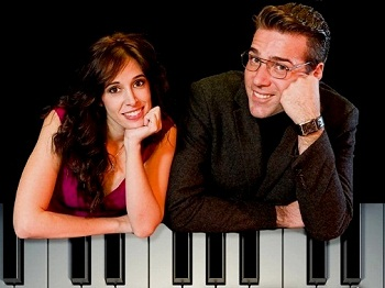 Sharon Spiegel-Wagner and Jonathan Roxmouth in I'M PLAYING YOUR SONG