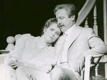 Liv Ullmann and George Hearn in I REMEMBER MAMA
